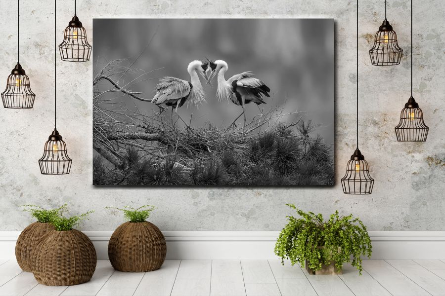 Canvas Art, Art Blvd, Pixolate, HD METAL ART, birds, birds art, eagles owls, feathers, crane, seagle, eagle LARGE