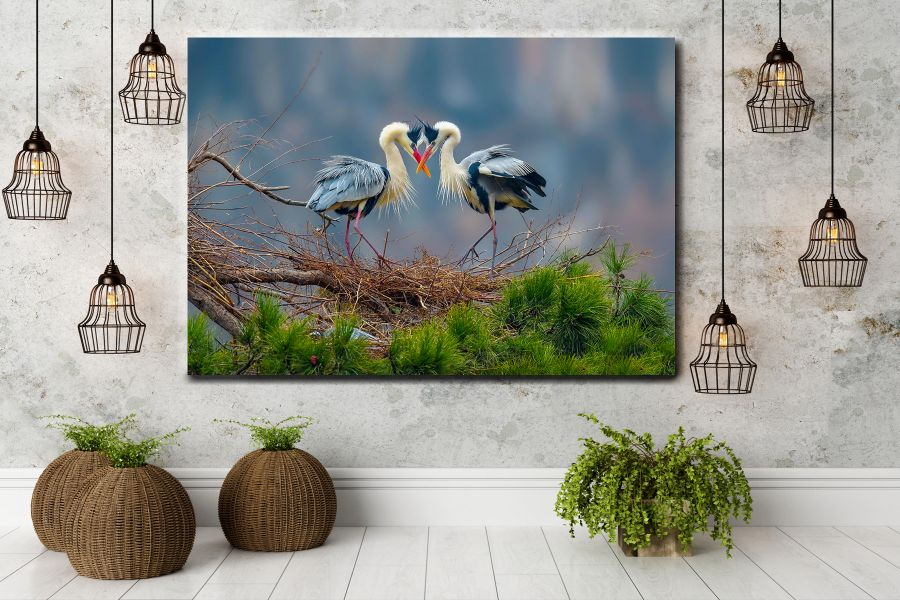 Canvas Art Wall Decor, BIRDS 70052 LARGE