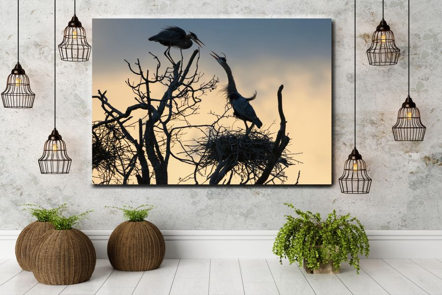 HD Metal Art, Indoor/Outdoor Wall Decor, BIRDS 70061 911 THUMBNAIL