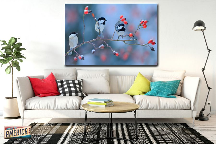 HD Metal Art, Indoor/Outdoor Wall Decor,  Pixolate, Subtint BIRDS 70214 200 THUMBNAIL