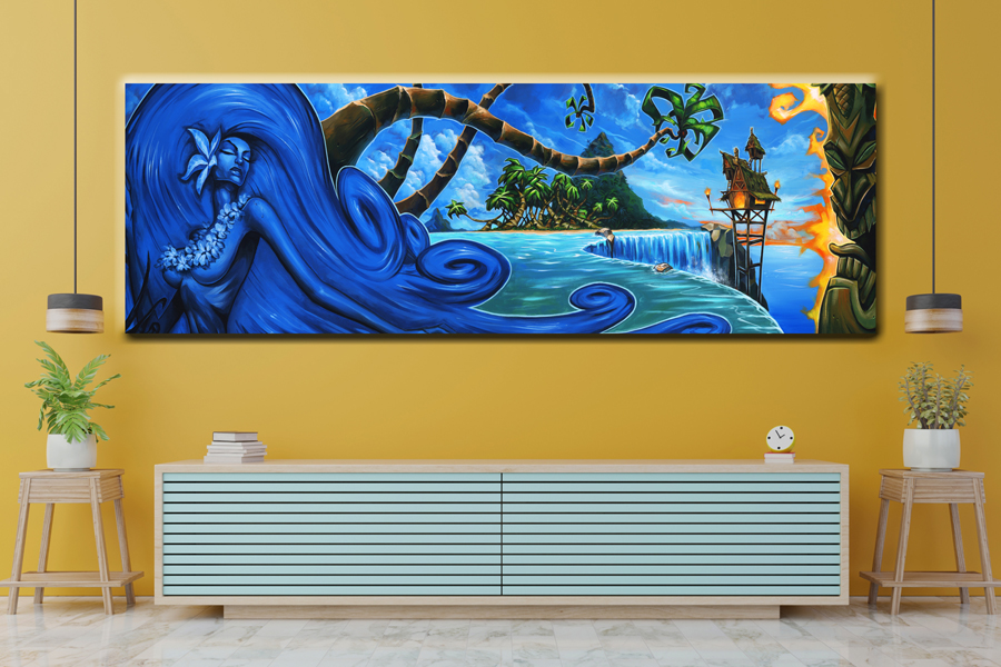 Canvas Art Wall Decor,TRENDING ARTIST, TIKI 77701 41 LARGE