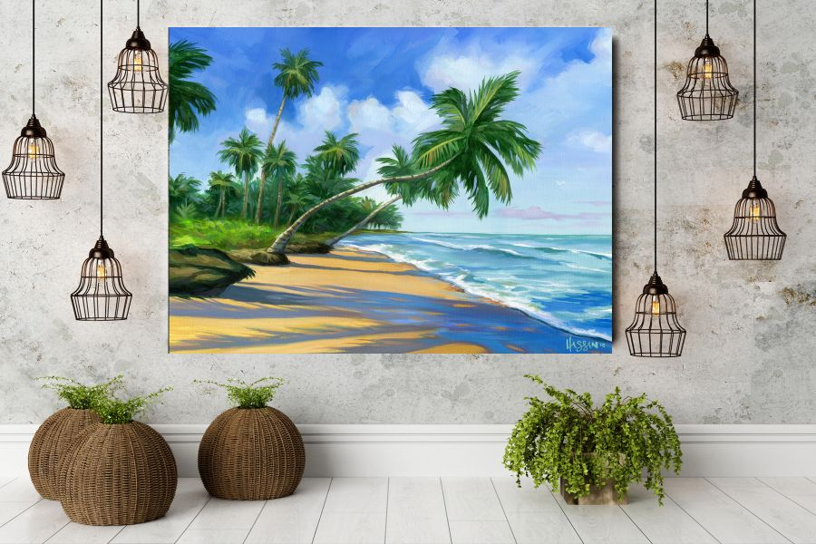 COASTAL, TROPICAL, BEACH, SURFFING, FLORIDA, WATER, OCEAN, PALM TREES, WAVES LARGE