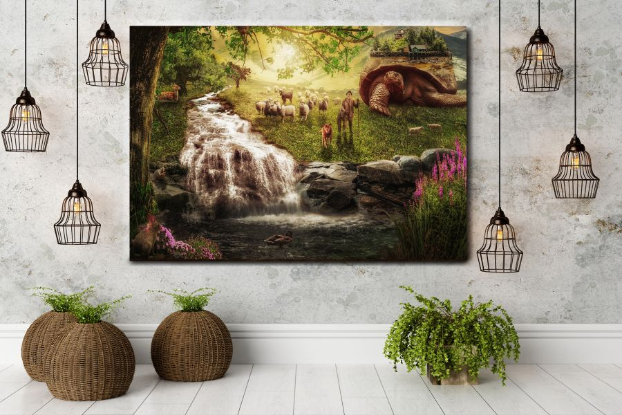 Canvas Art Wall Decor, FAIRY 79017 THUMBNAIL