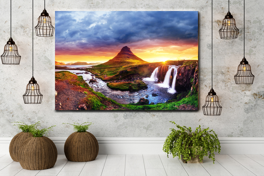 HD Metal Art, Indoor/Outdoor Wall Decor, WATERFALLS 80000 200 110 THUMBNAIL