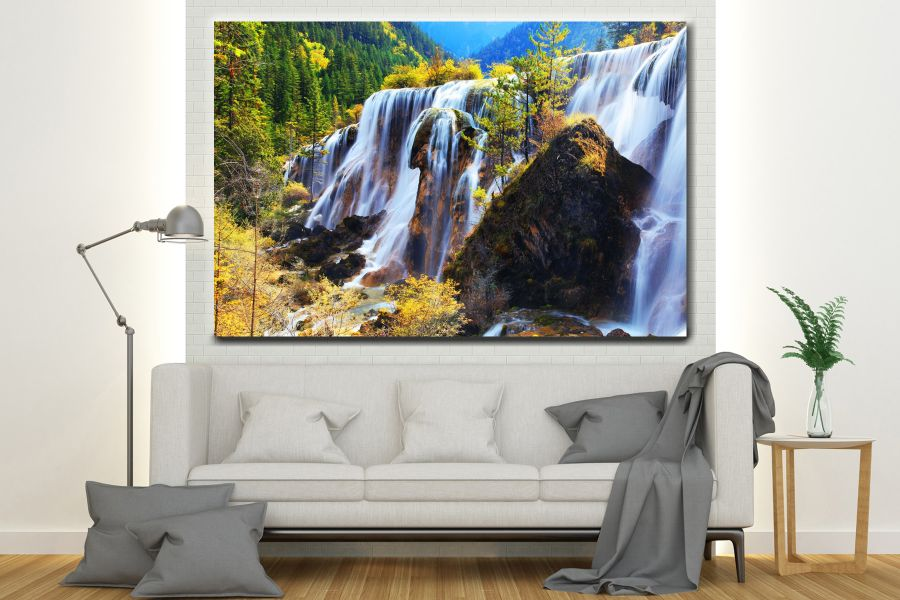 HD Metal Art, Indoor/Outdoor Wall Decor, WATERFALLS 80001 200 110 THUMBNAIL