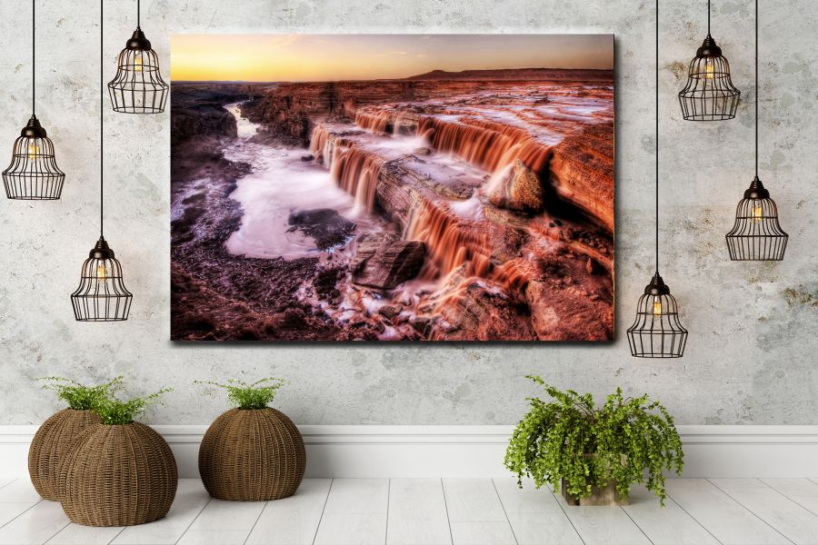 HD Metal Art, Indoor/Outdoor Wall Decor, WATERFALLS 80002 200 110 THUMBNAIL