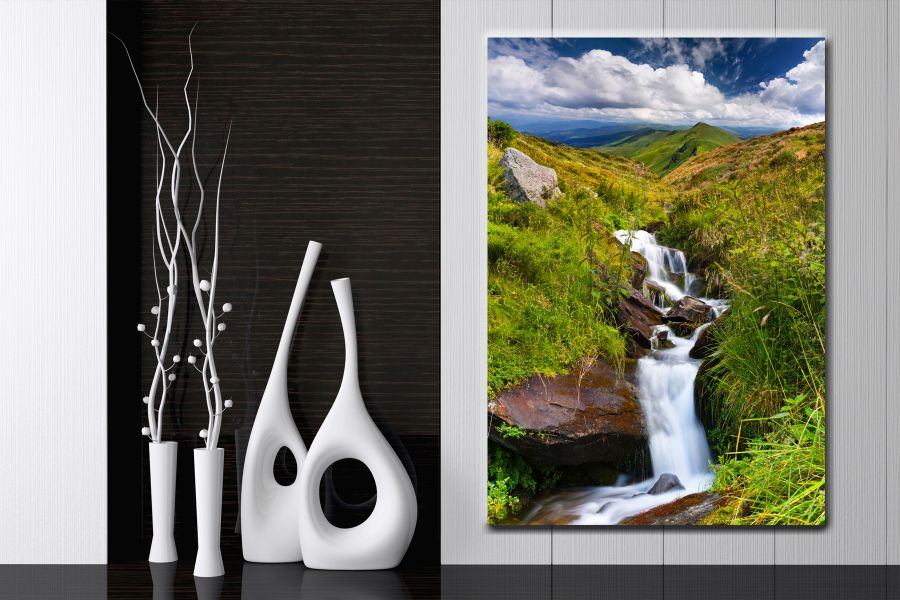 HD Metal Art, Indoor/Outdoor Wall Decor, WATERFALLS 80024 200 110 THUMBNAIL