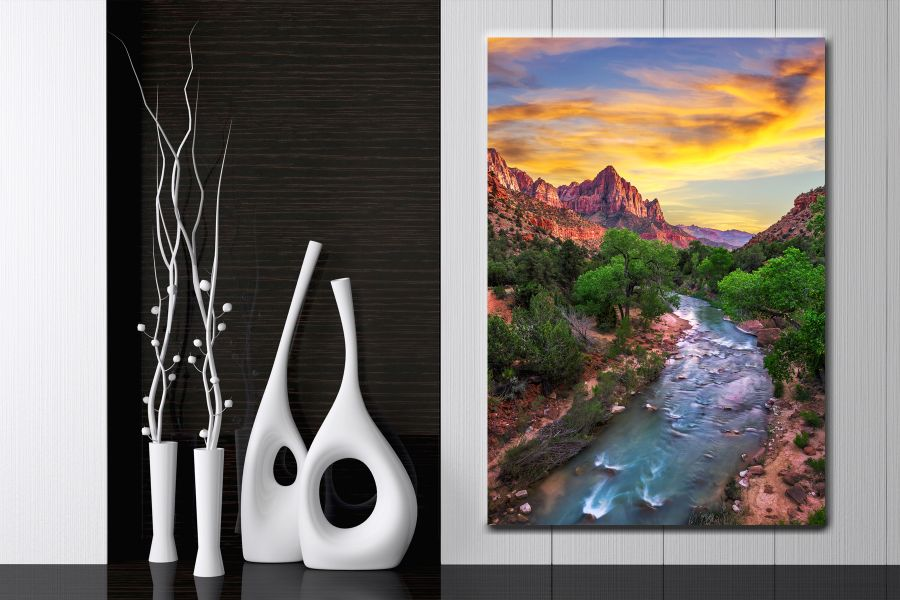 HD Metal Art, Indoor/Outdoor Wall Decor, WATERFALLS 80029 200 110 THUMBNAIL