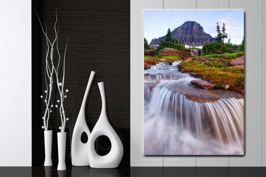 HD Metal Art, Indoor/Outdoor Wall Decor, WATERFALLS 80050 200 110 THUMBNAIL