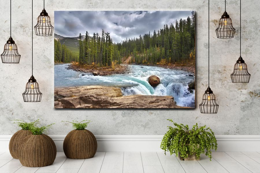 HD Metal Art, Indoor/Outdoor Wall Decor, WATERFALLS 80055 200 110 THUMBNAIL