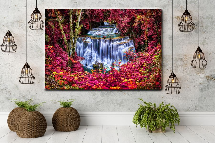 Canvas Art Wall Decor, waterfalls, falls 80099A LARGE