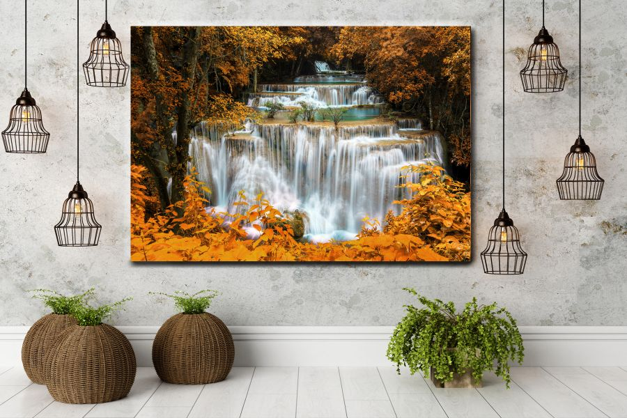 HD Metal Art, Indoor/Outdoor Wall Decor, WATERFALLS 80099 200 112 THUMBNAIL