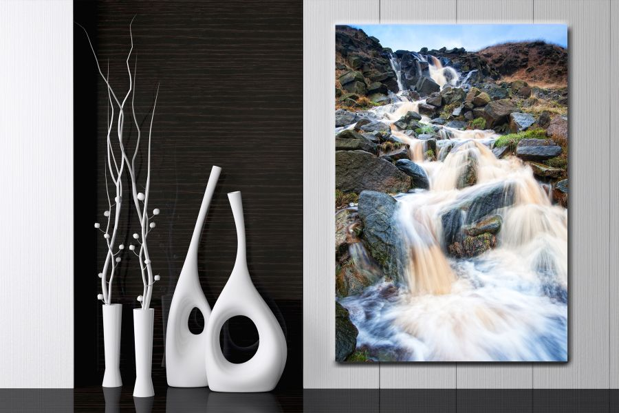 HD Metal Art, Indoor/Outdoor Wall Decor, WATERFALLS 80110 200 110 THUMBNAIL