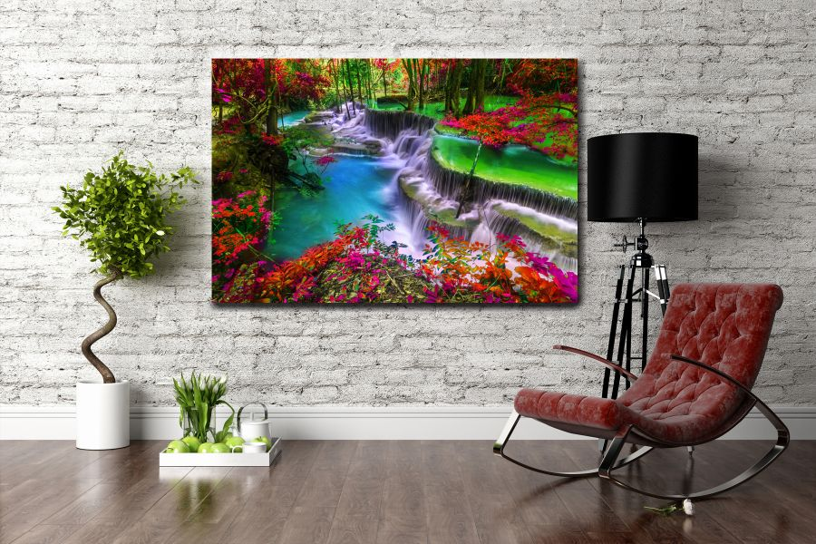 Canvas Art Wall Decor, waterfalls, falls 80121 LARGE