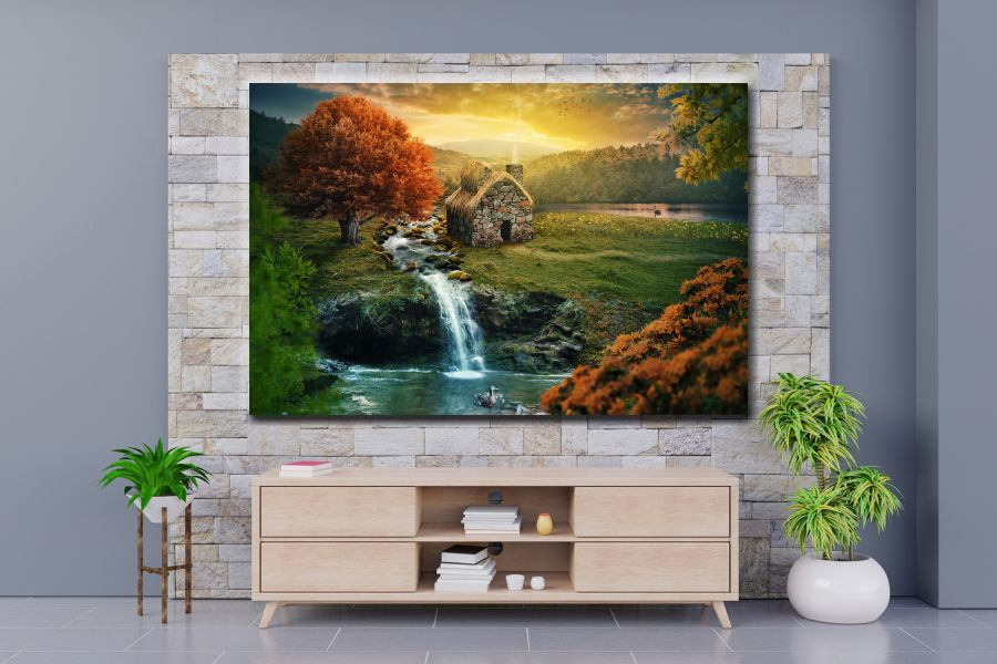 HD Metal Art, Indoor/Outdoor Wall Decor, WATERFALLS 80130 200 110 THUMBNAIL