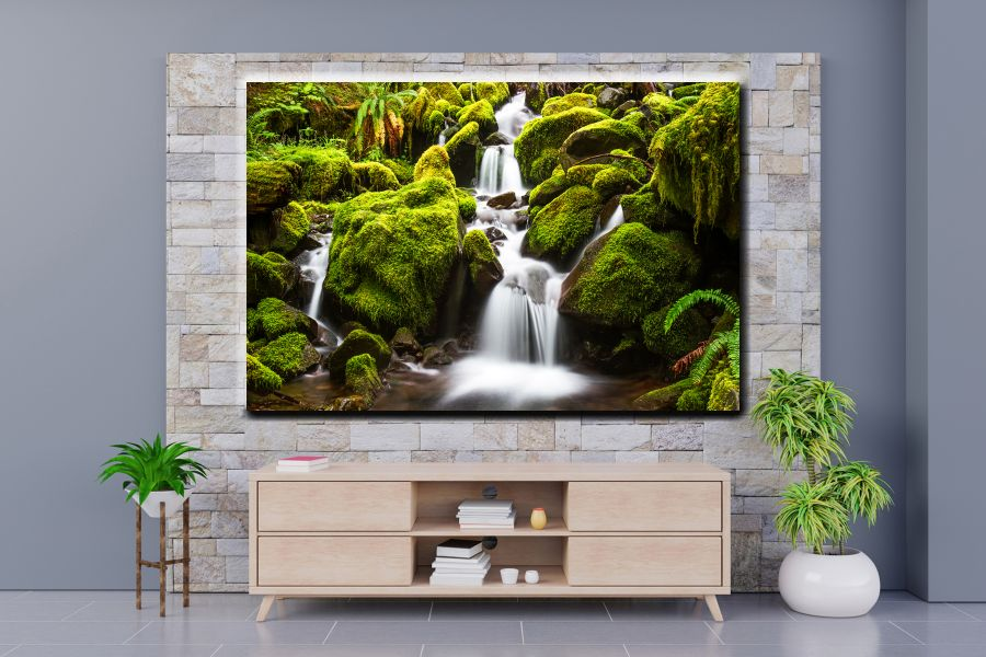HD Metal Art, Indoor/Outdoor Wall Decor, WATERFALLS 80131 200 110 THUMBNAIL
