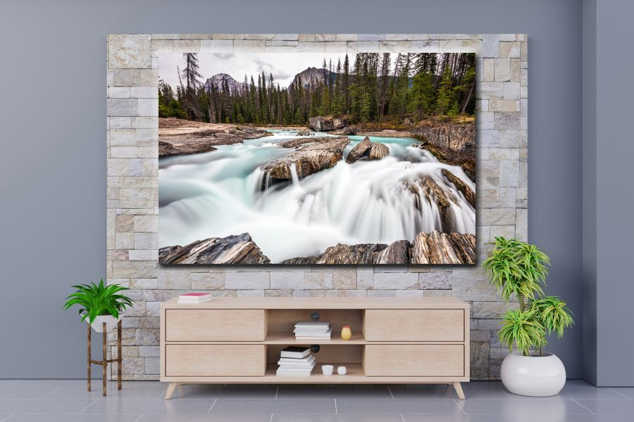 HD Metal Art, Indoor/Outdoor Wall Decor, WATERFALLS 80132 200 110 THUMBNAIL