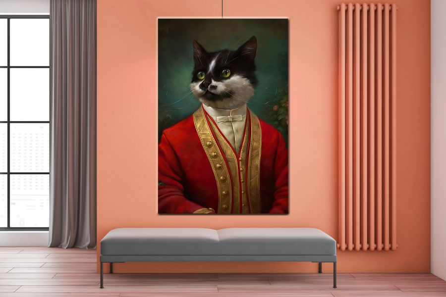 Canvas Art Wall Decor, CATS, DOGS, ANIMALS, PETS 85002 LARGE