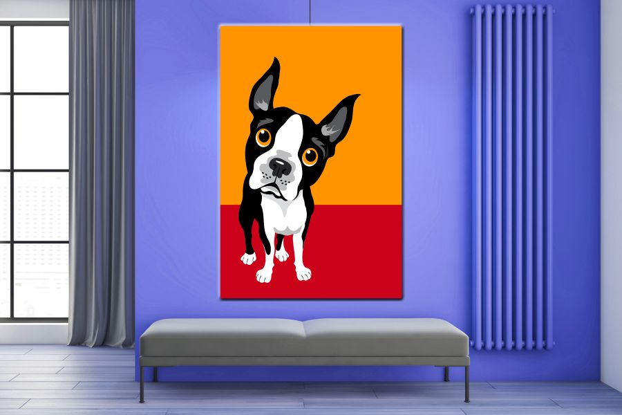 Canvas Art Wall Decor, CATS, DOGS, ANIMALS, PETS 85009 LARGE