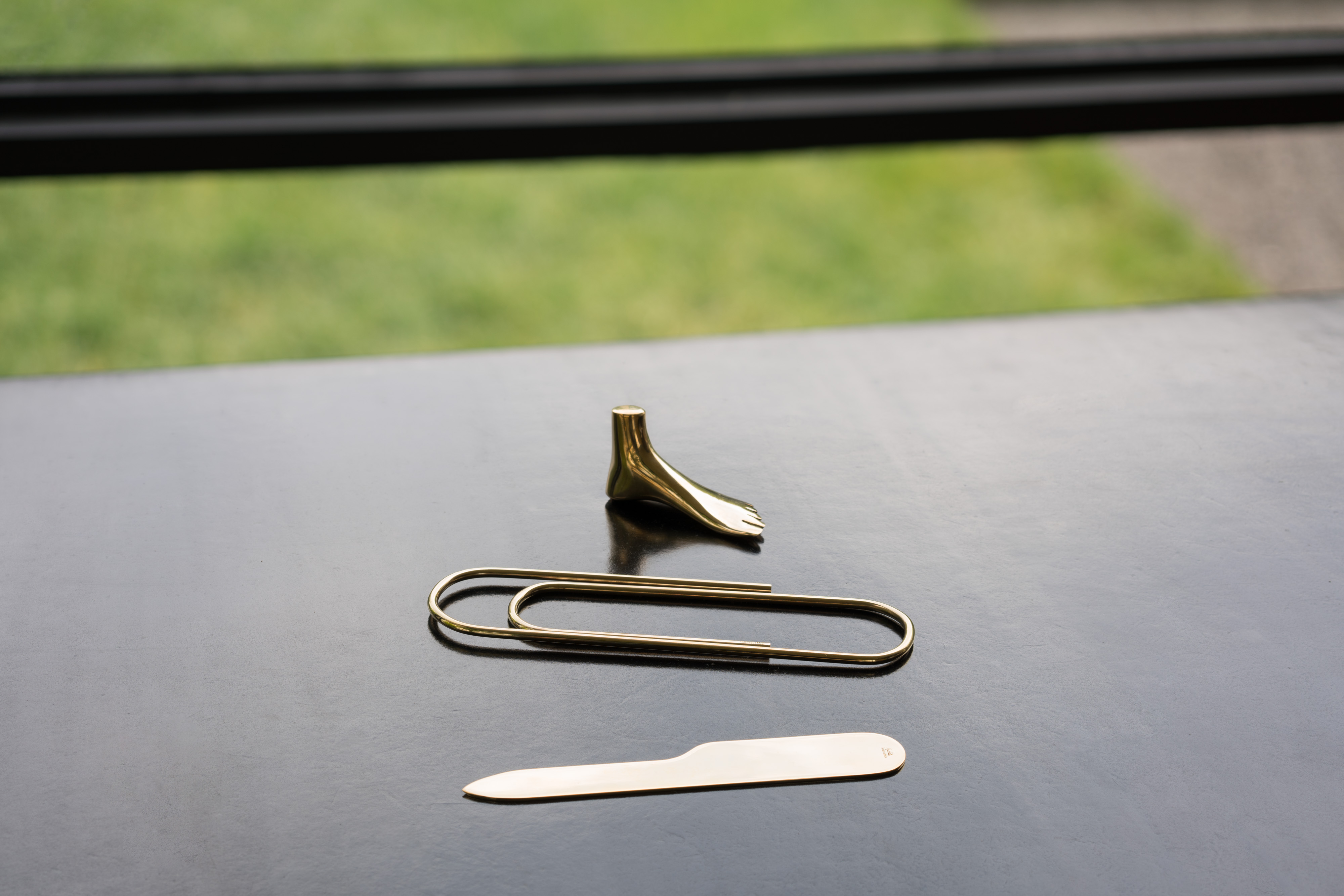 Brass Paperclip Paperweight~Carl Aubock