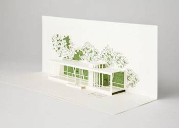 Glass House 3D Card (Pack of 10) THUMBNAIL