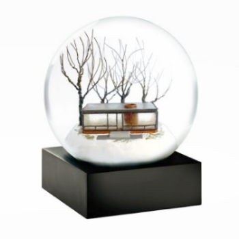 Glass House Snow Globe