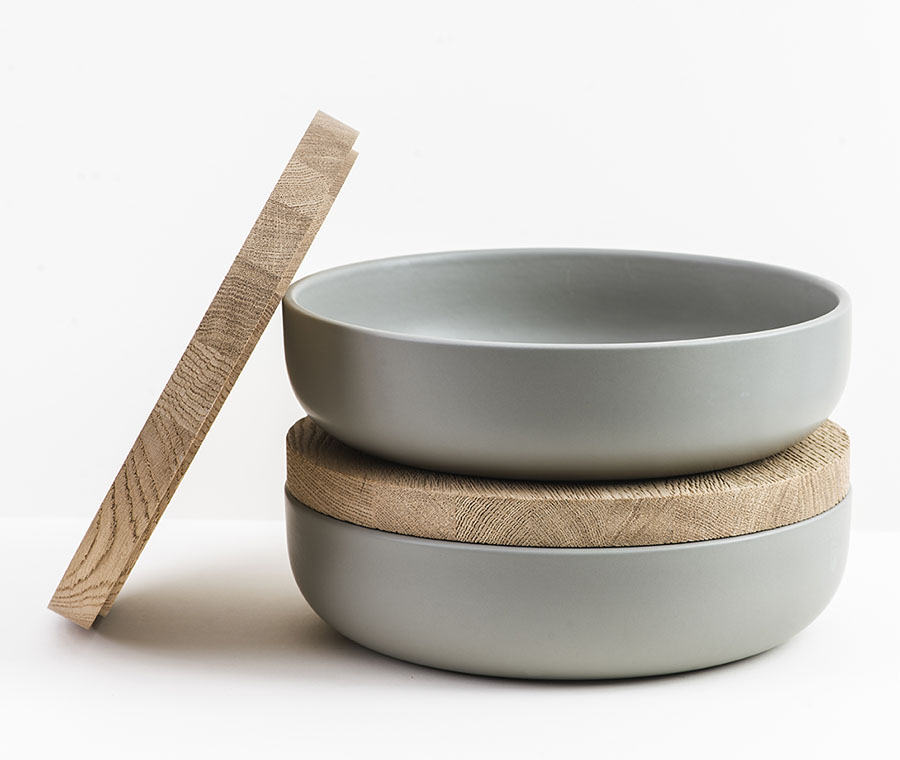 Gray Ceramic Bowl