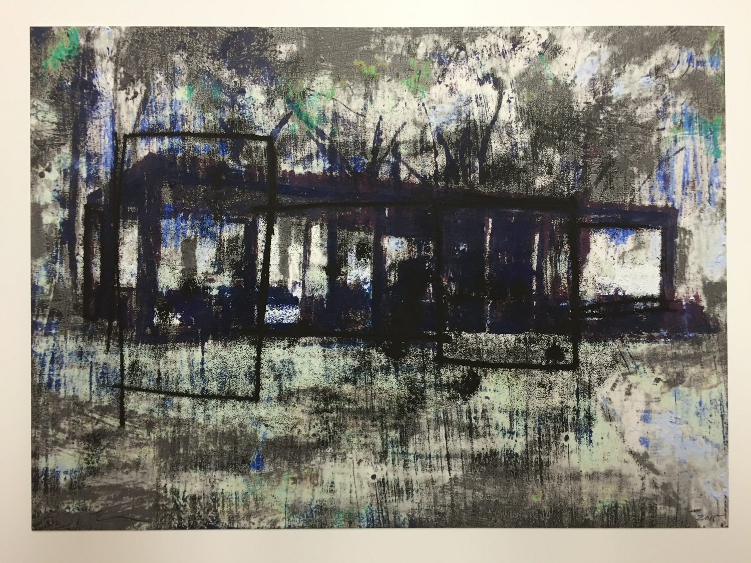 Enoc Perez: Glass House, III (Gray) THUMBNAIL