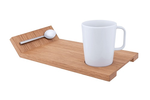 Serving Board with Cup and Spoon THUMBNAIL