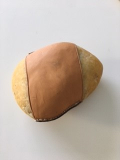 Stone Leather Paperweight~Carl Aubock