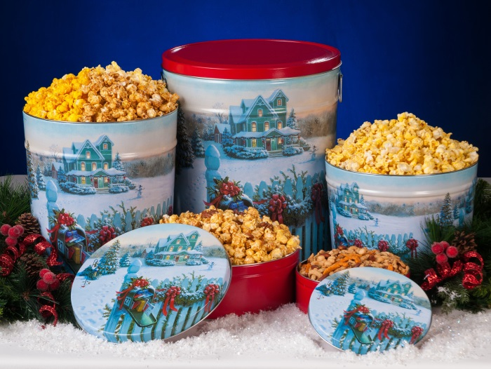 Christmas Mail - Popcorn Tins
