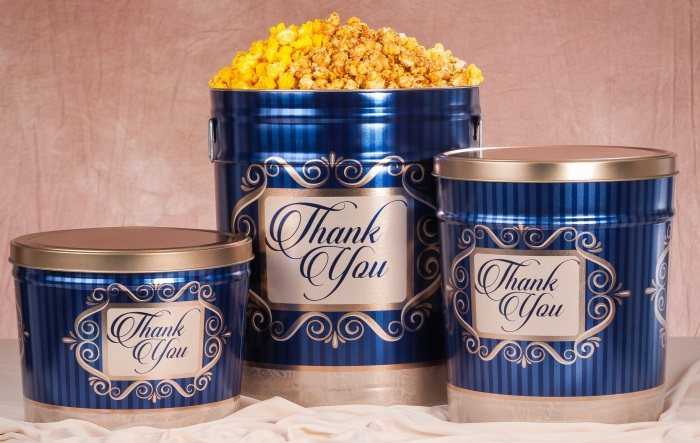 Golden Thank You - Popcorn Tins