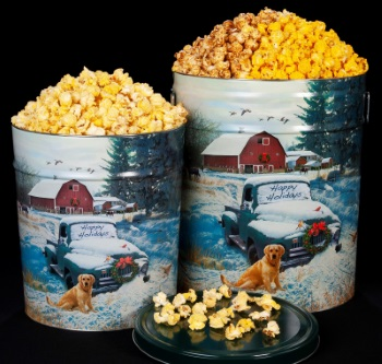 Countryside Christmas - Popcorn Tins