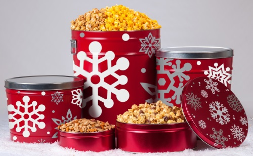 Let It Snow - Popcorn Tins
