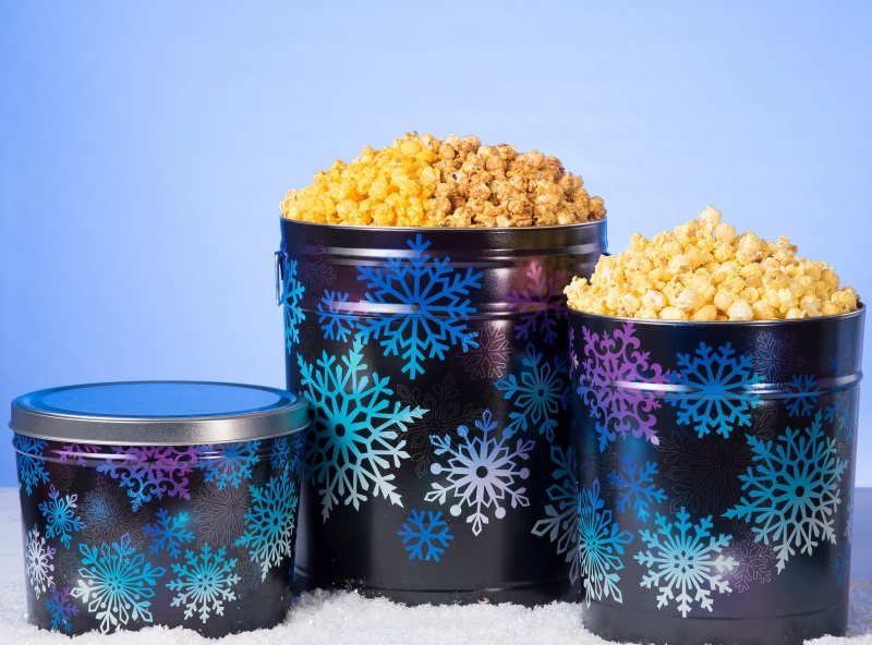 Midnight Snowflakes - Popcorn Tins MAIN