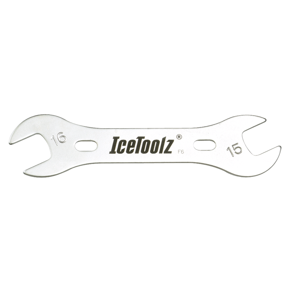 IceToolz 15x16 mm Cone Wrench - double ended THUMBNAIL