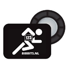 BibBits With Runner Logo- 4 inner and 4 outer magnets THUMBNAIL