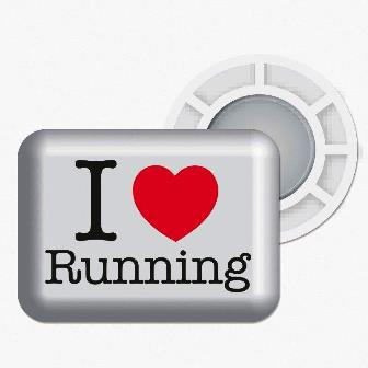 "BibBits With ""I Heart Running"" Logo 4 inner and 4 outer magnets MAIN"