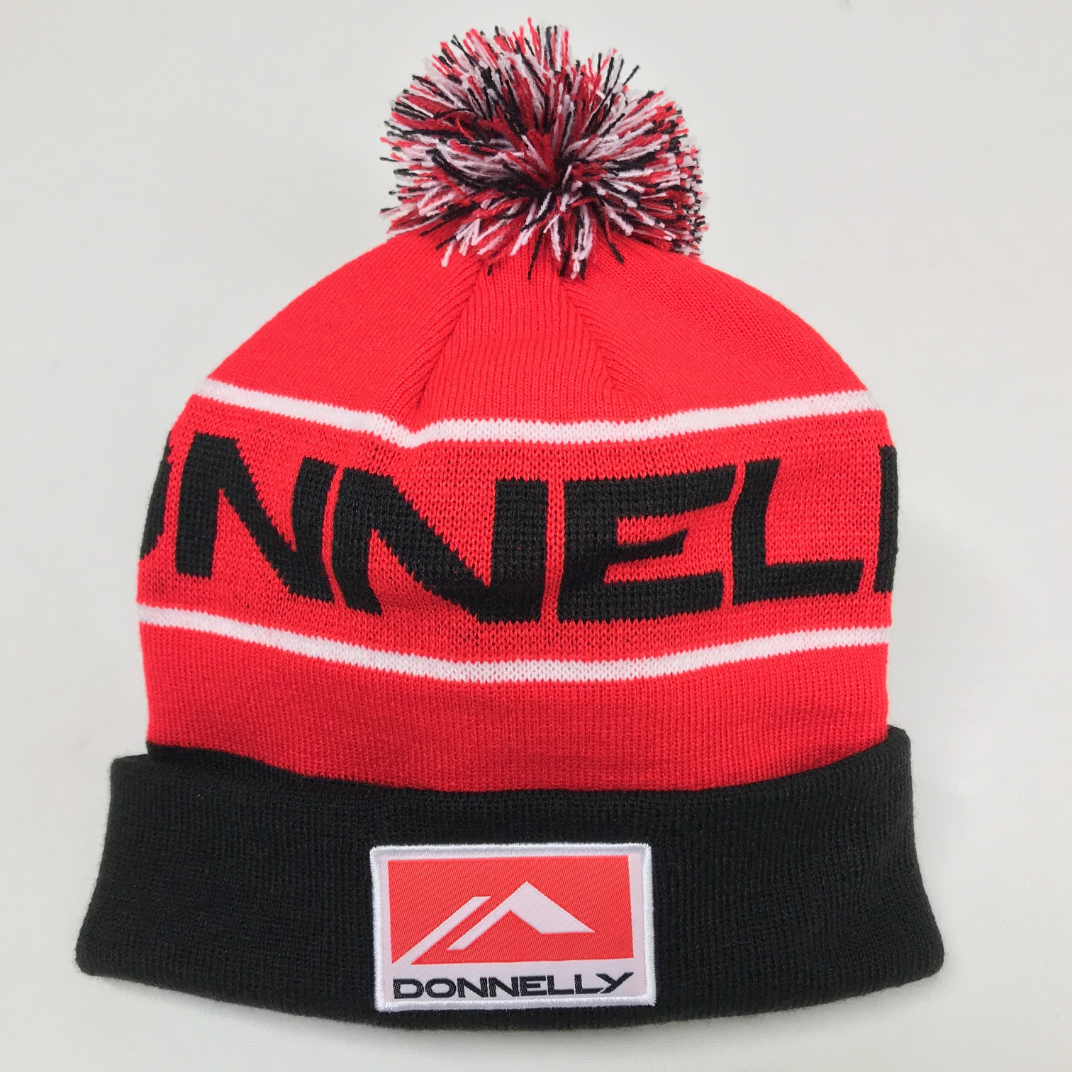 Donnelly Cycling Beanie Hat, Red/Black THUMBNAIL
