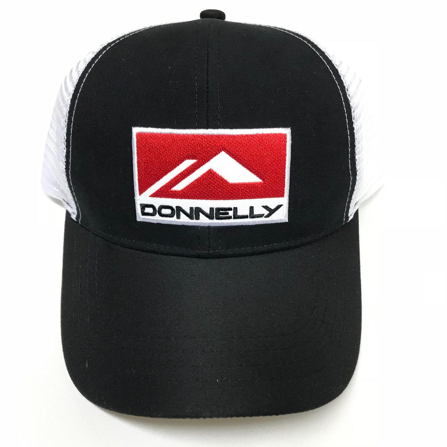 Donnelly Trucker Hat, Curved Bill, Black