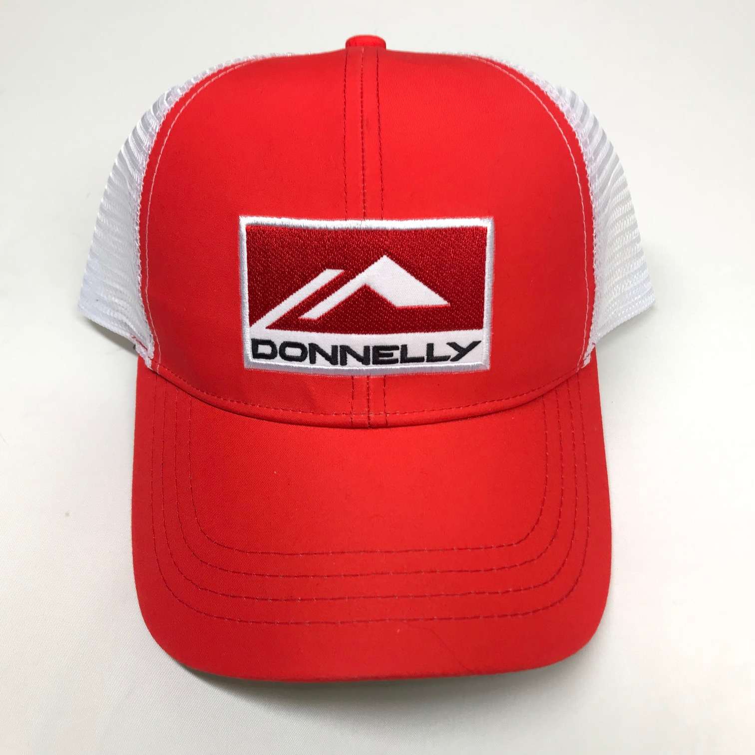 Donnelly Trucker Hat, Curved Bill, Red THUMBNAIL