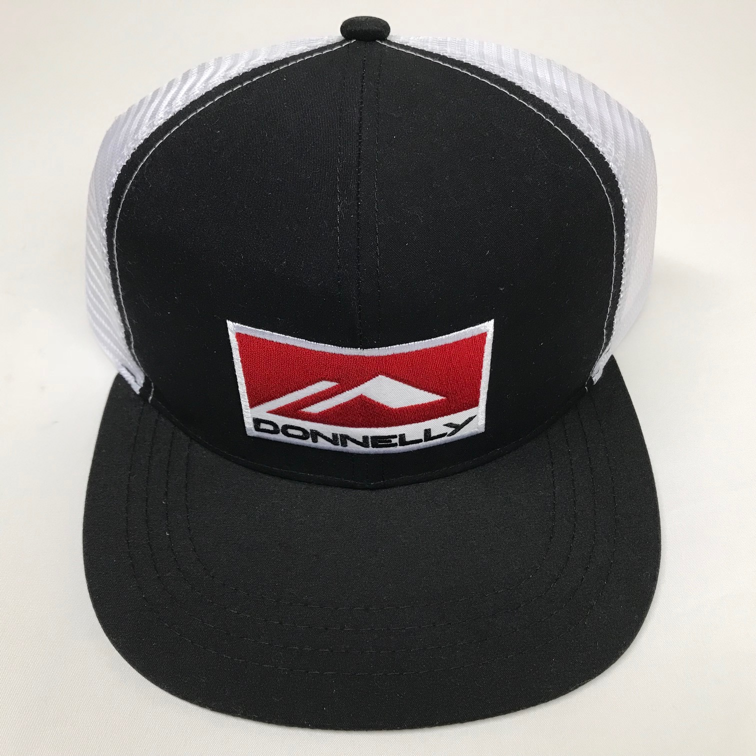 Donnelly Trucker Hat, Flat Bill, Black THUMBNAIL