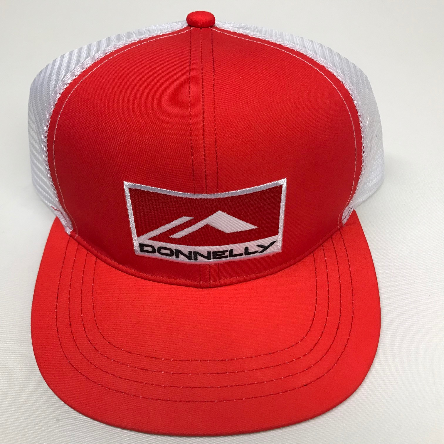 Donnelly Trucker Hat, Flat Bill, Red