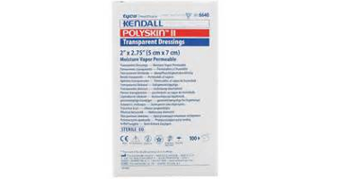"Kendall Polyskin Transparent Film Dressing 2""x2-3/4"""