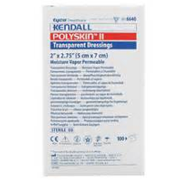 "Kendall Polyskin Transparent Film Dressing 2""x2-3/4""_THUMBNAIL"