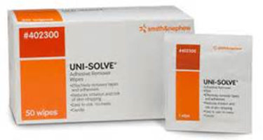 Smith & Nephew Uni-Solve Adhesive Remover Wipes