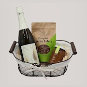 holiday wine sparkling white gift basket THUMBNAIL