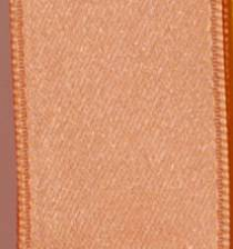 Wired Double Face Satin Ribbon - Peach