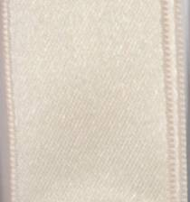 Wired Double Face Satin Ribbon - Ivory