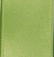 Wired Double Face Satin Ribbon - Lime